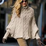 photo tricot modèle tricot poncho 18