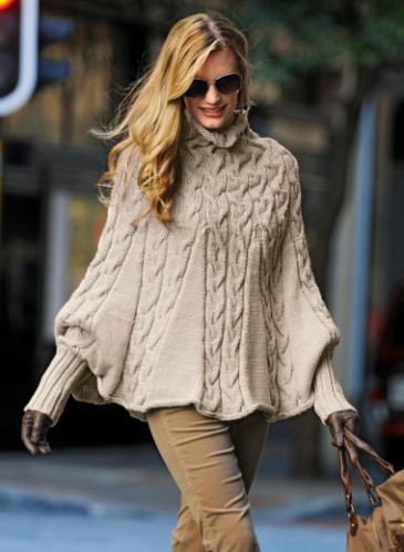 modele tricot pull poncho