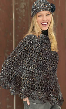 kit tricot poncho femme