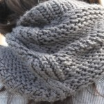 photo tricot modèle tricot snood facile 15