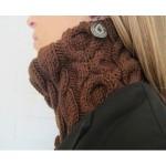 photo tricot modèle tricot snood irlandais 10