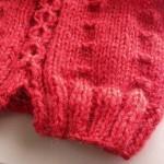 photo tricot modèle tricot snood irlandais 11