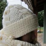 photo tricot modèle tricot snood irlandais 13