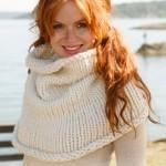 photo tricot modèle tricot snood irlandais 15