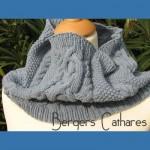 photo tricot modèle tricot snood irlandais