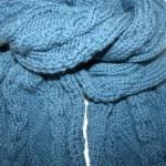 photo tricot modèle tricot snood irlandais 16