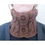 photo tricot modèle tricot snood irlandais 17