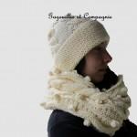 photo tricot modèle tricot snood irlandais 2