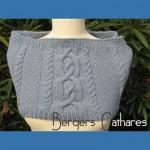 photo tricot modèle tricot snood irlandais 3