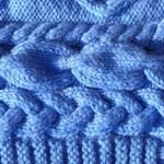 photo tricot modèle tricot snood irlandais 4