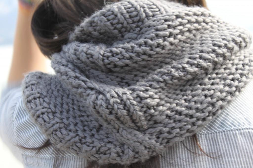 tricoter un snood en 6