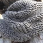 photo tricot modèle tricot snood irlandais 6