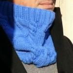 photo tricot modèle tricot snood irlandais 7