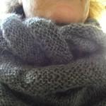 photo tricot modèle tricot snood irlandais 9