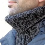 photo tricot modèle tricot snood pour homme 10