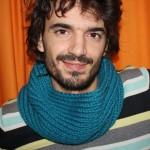 photo tricot modèle tricot snood pour homme 15