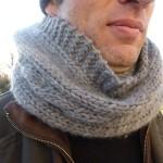 photo tricot modèle tricot snood pour homme 17