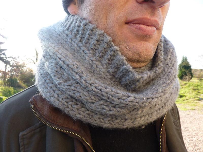 tricoter un snood pour homme