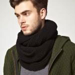 photo tricot modèle tricot snood pour homme 2