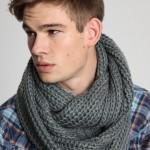 photo tricot modèle tricot snood pour homme 3