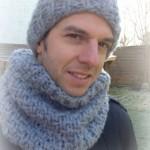 photo tricot modèle tricot snood pour homme 6