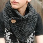 photo tricot modèle tricot snood pour homme 9