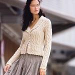photo tricot modèle tricot torsade jersey
