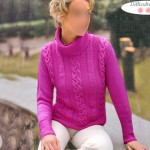 photo tricot modèle tricot torsade jersey 4