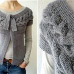 photo tricot modèle tricot torsade realiser 17