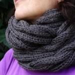 photo tricot modèle tricot tour de cou torsade 10
