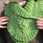 photo tricot modèle tricot tour de cou torsade 11