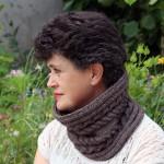 photo tricot modèle tricot tour de cou torsade 2