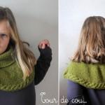 photo tricot modèle tricot tour de cou torsade 8