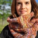 photo tricot modèle tricot tour de cou torsade 9