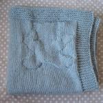 photo tricot modèle tricoter bébé une couverture 10