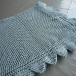photo tricot modèle tricoter bébé une couverture 14