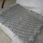 photo tricot modèle tricoter bébé une couverture