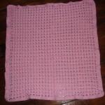 photo tricot modèle tricoter bébé une couverture 16