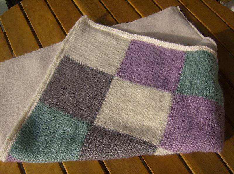 Photo tricot mod le tricoter b b une couverture 3 - Tricot avec les bras couverture ...