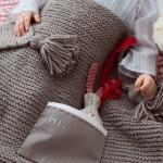 photo tricot modèle tricoter bébé une couverture 4