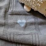 photo tricot modèle tricoter bébé une couverture 6