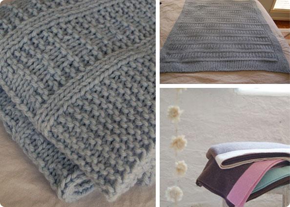 photo tricot modèle tricoter bébé une couverture 7