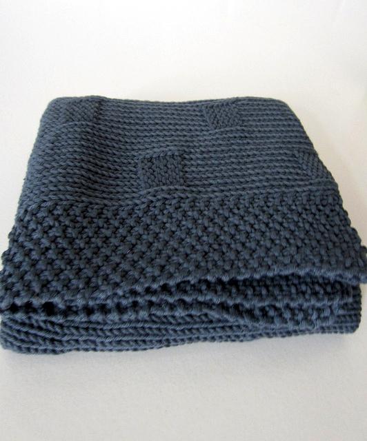 photo tricot modèle tricoter bébé une couverture 8