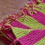photo tricot modèle tricoter bébé une couverture 9
