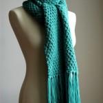 photo tricot modèle tricoter debutant une echarpe 14