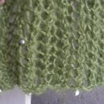 photo tricot modèle tricoter debutant une echarpe 16