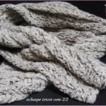 photo tricot modèle tricoter debutant une echarpe 18