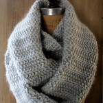 photo tricot modèle tricoter debutant une echarpe 2