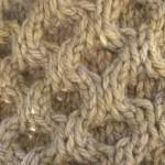 photo tricot modèle tricoter nid d abeille le point