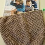 photo tricot modèle tricoter nid d abeille le point 9